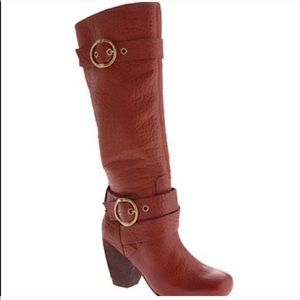 Lucky Brand Candice Nutella Brown Riding Boot Sz 9
